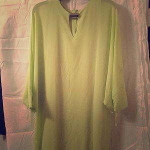 Flattering, soft green all-occasion dress